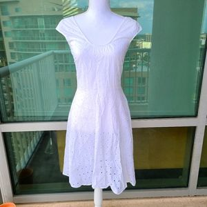 Versus by Versace White eyelet dress